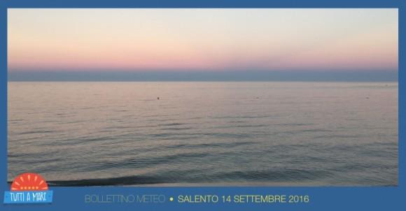 Bollettino  14 Settembre 2016